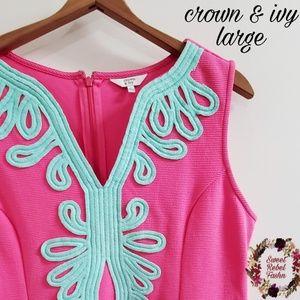 Crown & Ivy Pink dress size large